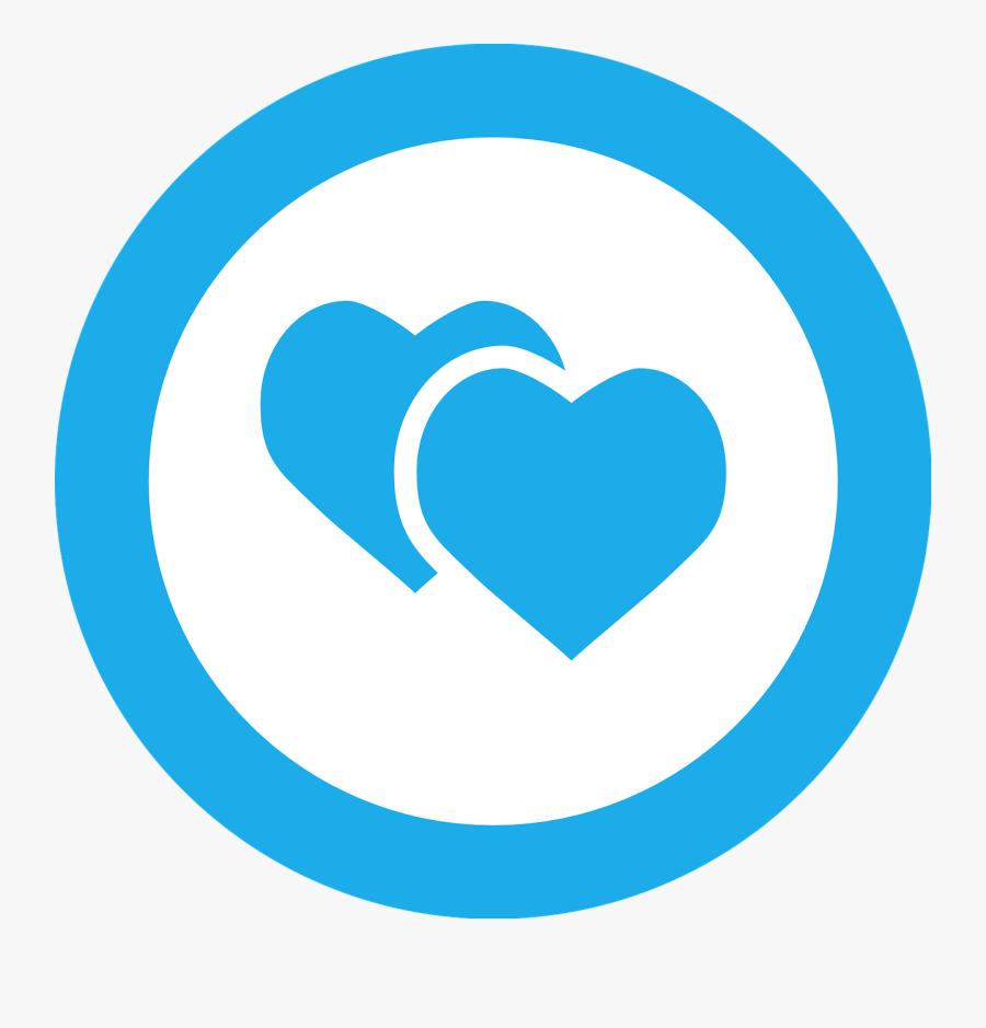 Circle Clipart Sky Blue - Love Png Circle, Transparent Clipart