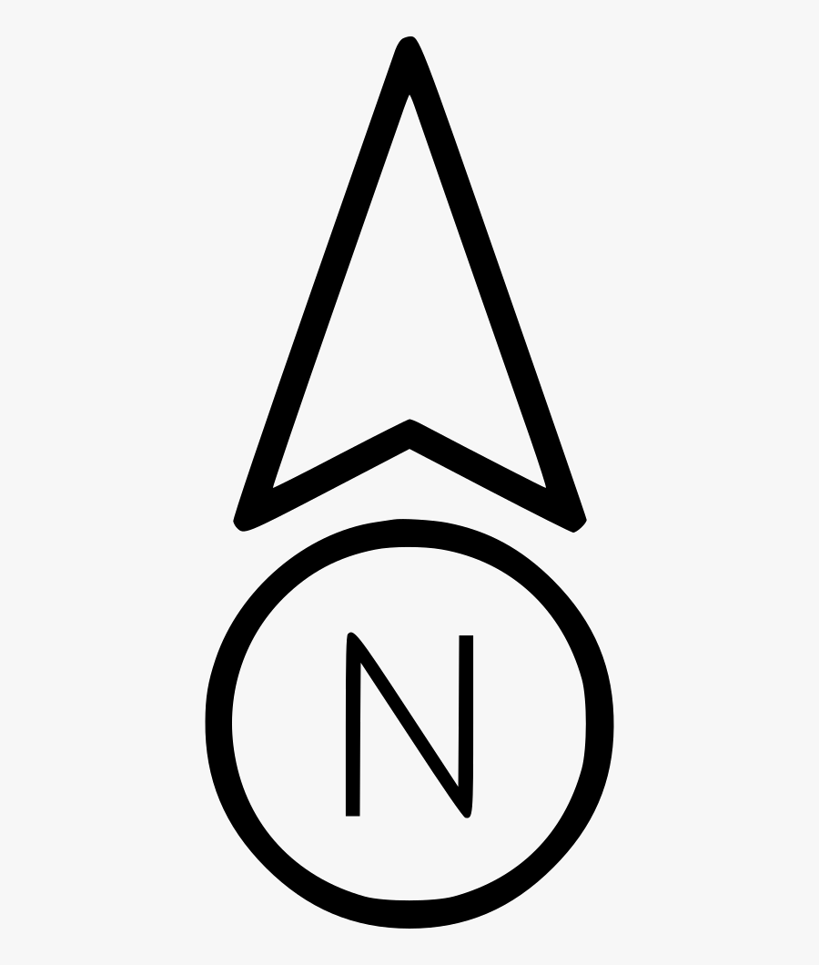 Triangle - North Direction Arrow Png, Transparent Clipart