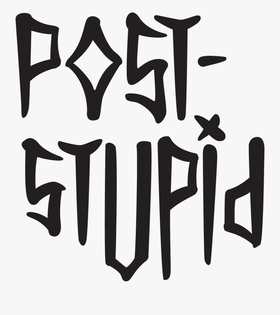 Post Stupid Font, Transparent Clipart