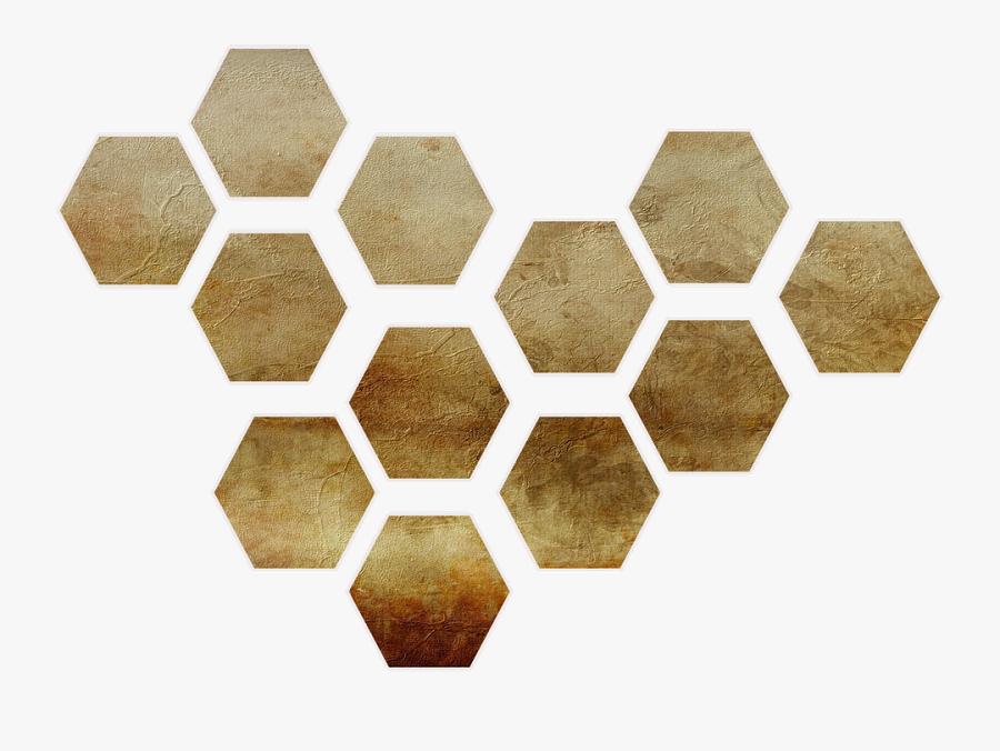 Shape, Honeycomb, Gold, Paper, Scrap, Scrapbooking - Connected Car Iot Applications, Transparent Clipart