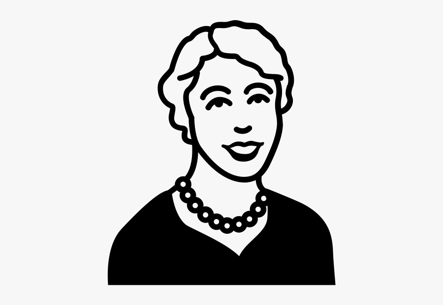 """Eleanor Roosevelt Rubber Stamp""""  Class=""""lazyload Lazyload - Draw Eleanor Roosevelt Step By Step, Transparent Clipart"""