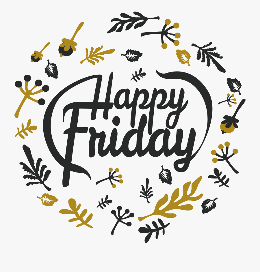 Happy Friday Png, Transparent Clipart