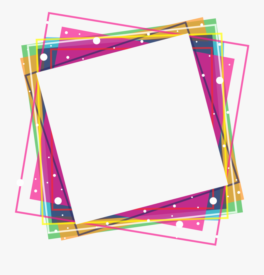 #ftestickers #background #frame #borders #abstract - Colorful Overlays For Editing, Transparent Clipart