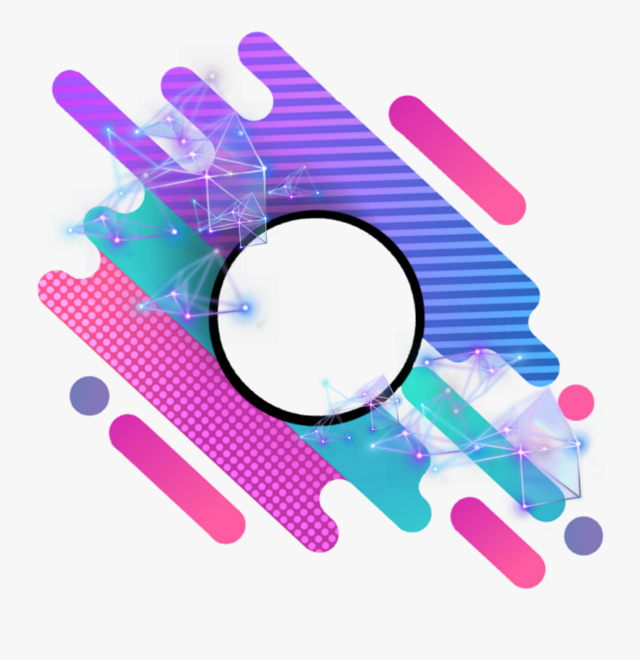 #overlay #border #kpop #aesthetic #frame #geometric - Cool Aesthetic Frame Border Png, Transparent Clipart