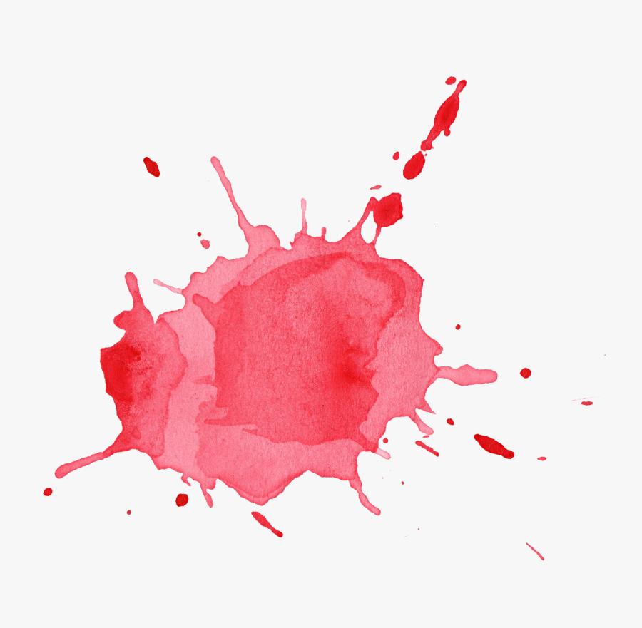 Clip Art Png For Download - Water Color Splash Red, Transparent Clipart