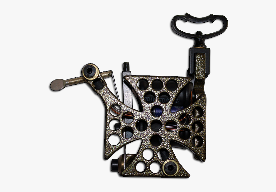 Iron Cross Tattoo Machine Swastika Quebec Tattoo Supply - Bavarian Custom Irons Antique Copper Hammered, Transparent Clipart
