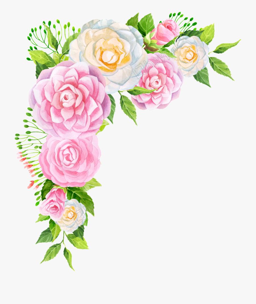Transparent Pink Flowers Png - Frame Bunga Vektor Hd Png, Transparent Clipart