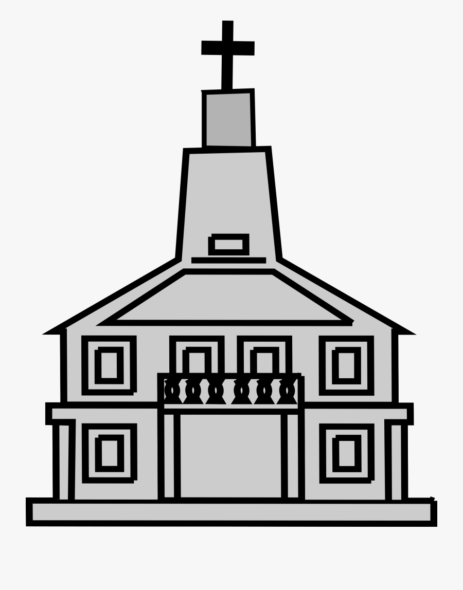 Clipart Church Sketsa Gambar Tempat Ibadah Free