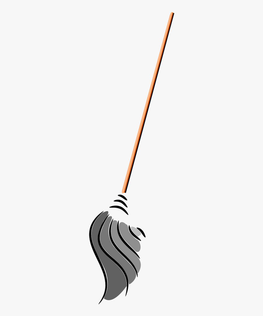 Housekeeping Clipart Sweep Mop - Mop Vector Png, Transparent Clipart