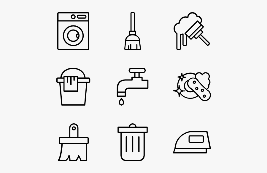 Clean - Email Phone Address Icons, Transparent Clipart