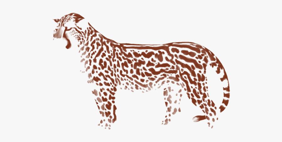 Lioden Royal Cheetah Markings, Transparent Clipart