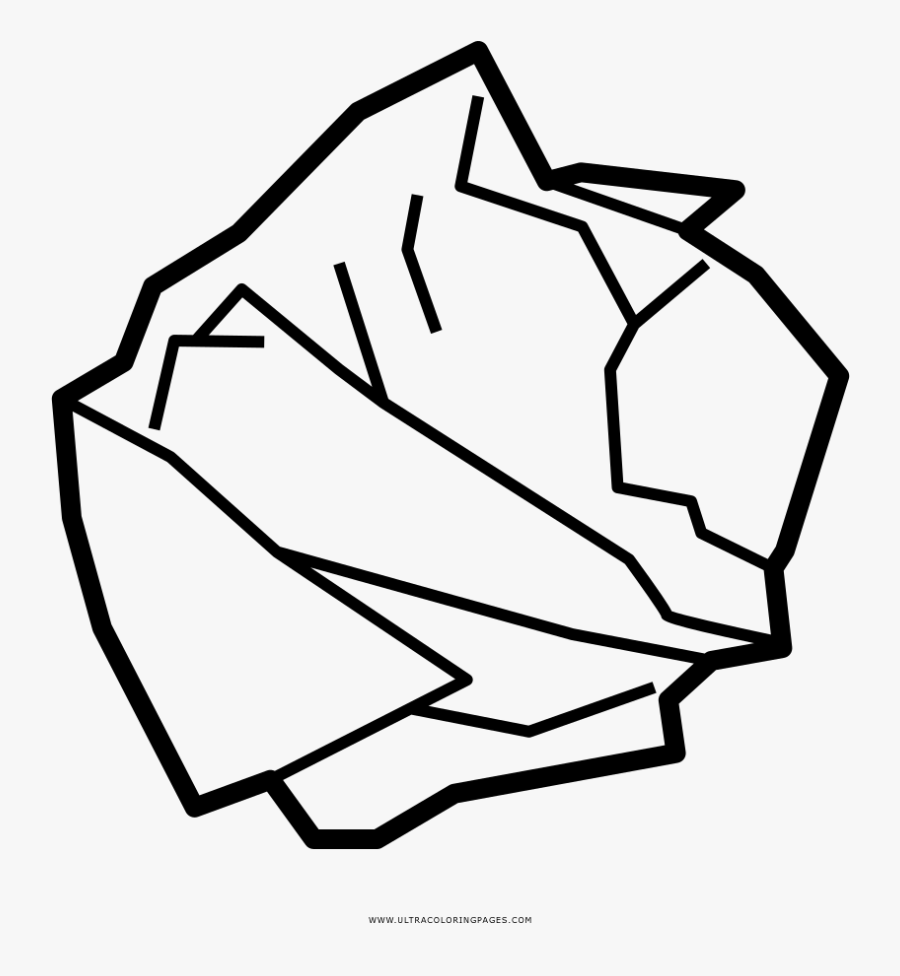 Crumpled Paper Coloring Page - Easy To Draw Crumpled Paper, Transparent Clipart