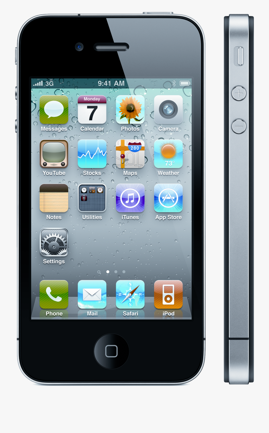 Smartphone Png Image - Apple Iphone 4, Transparent Clipart