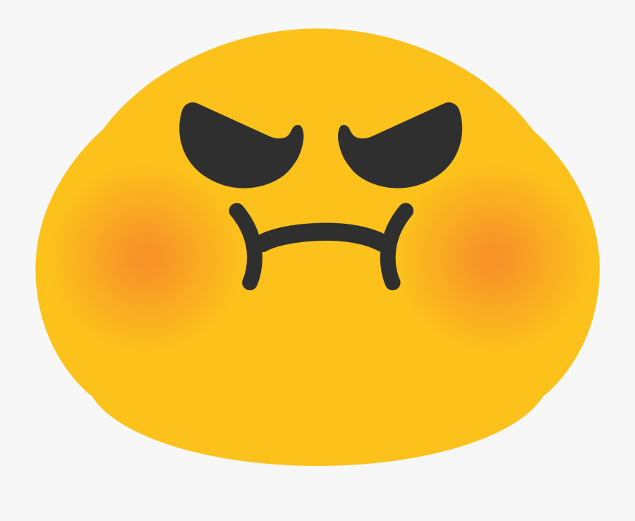 Just Look At How Dirty The Campus Is Right Now - Android Emoji Angry, Transparent Clipart