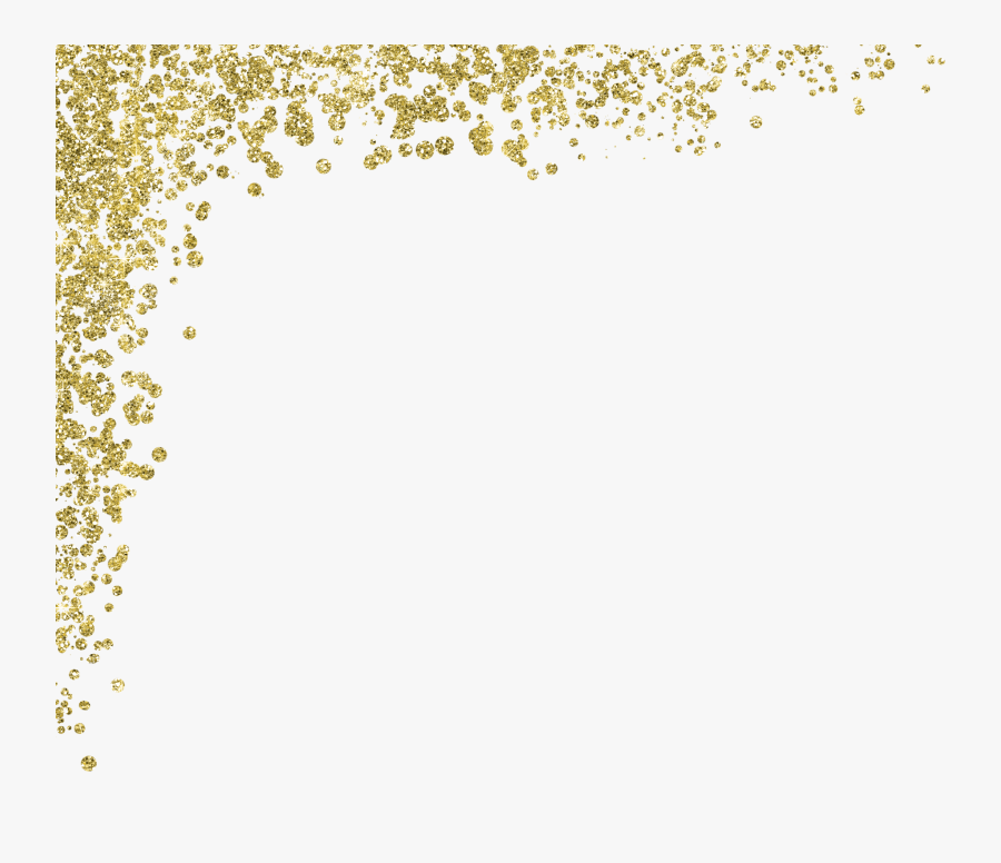 Glitter Clipart Gold Glitter Line - Gold Sparkles Transparent Png, Transparent Clipart