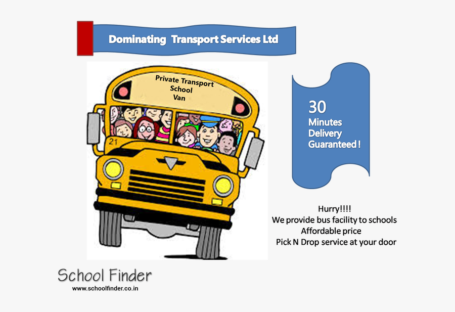 How Safe Is It To Send Your Child By Private Auto-van - School Bus Driver End Of Year Gifts, Transparent Clipart