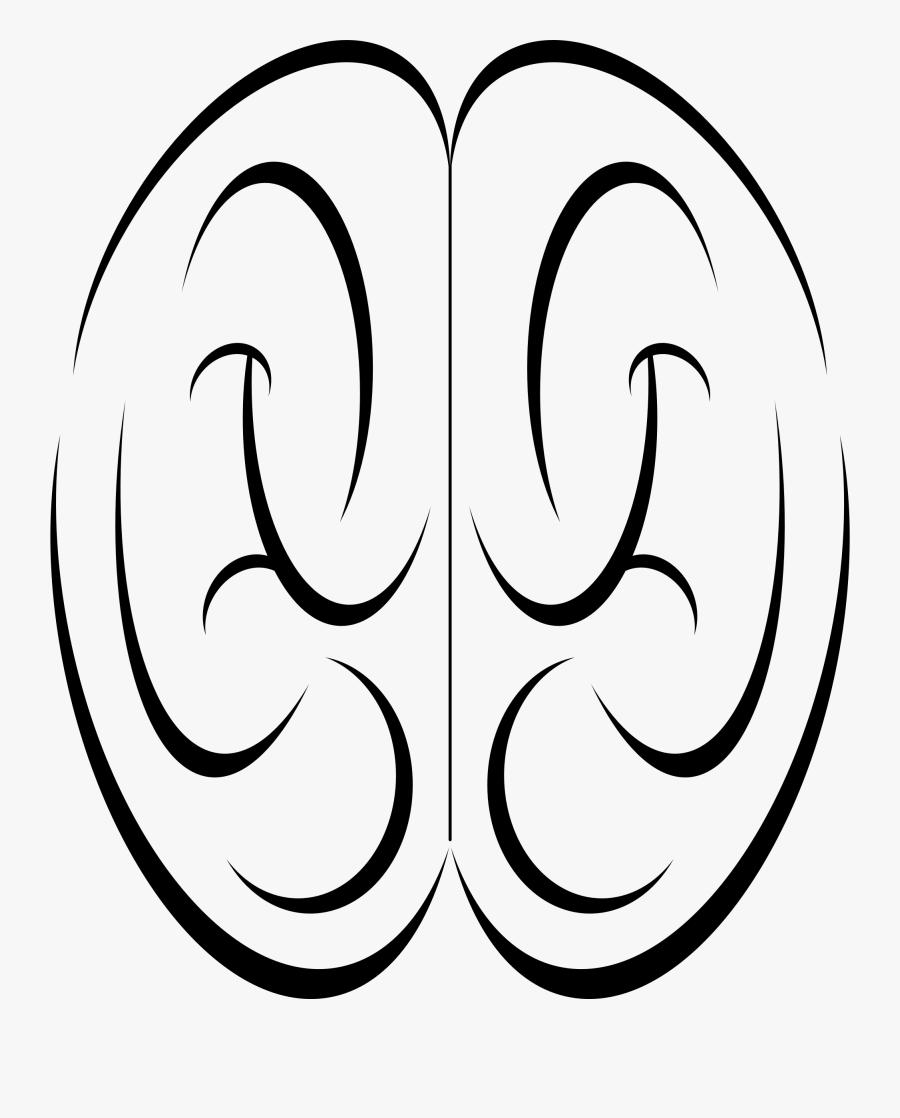 Brain Stylistic Top View Clip Arts - Brain Top View Png, Transparent Clipart