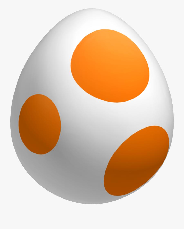 Super Mario Orange Yoshi Egg, Transparent Clipart