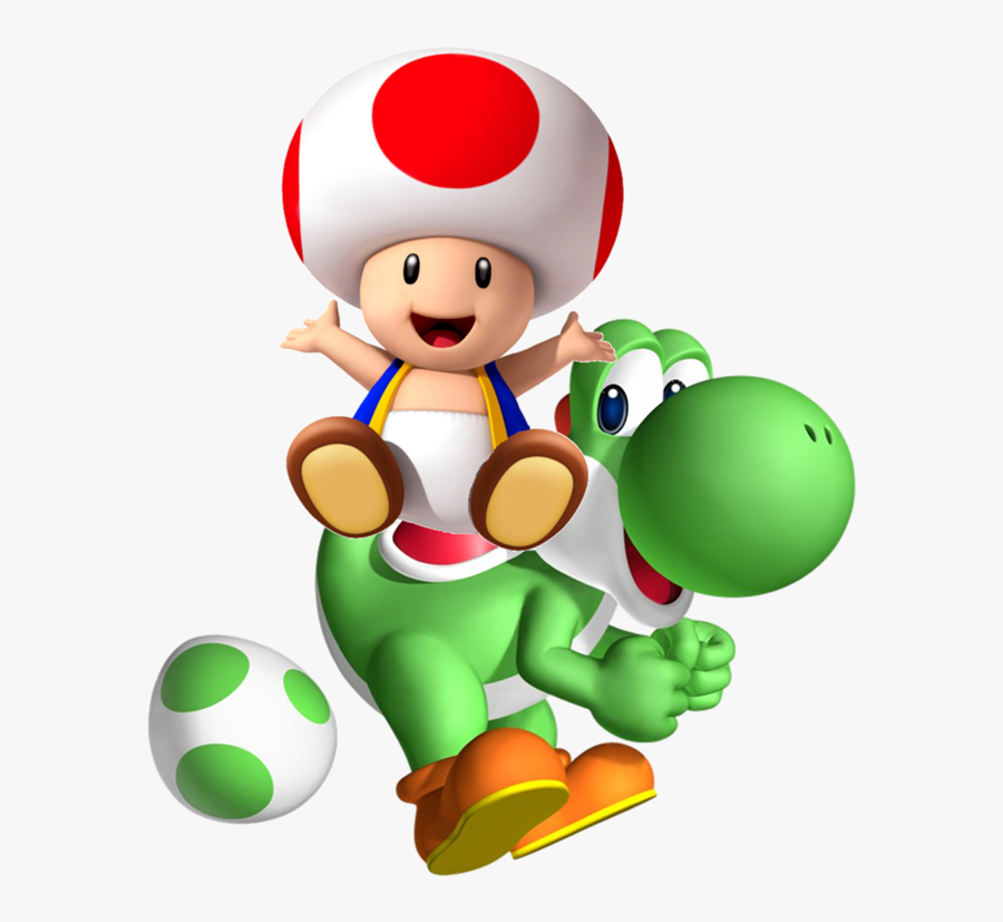 Toad In Yoshi Sl - Yoshi And Toad Mario Kart, Transparent Clipart