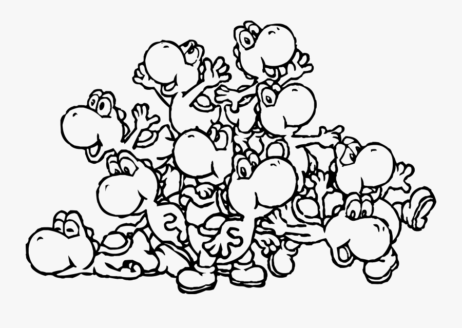 Clip Art Pin By M Page - Printable Yoshi Coloring Pages, Transparent Clipart