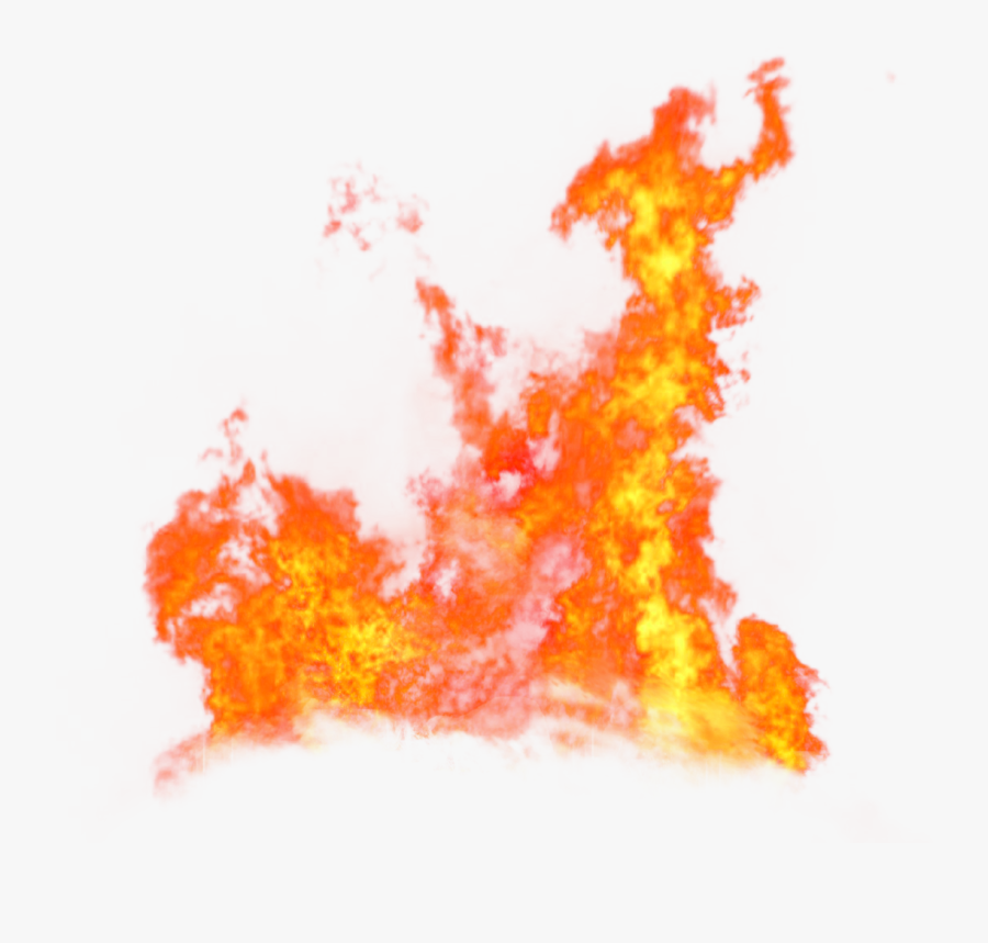 Fire Flame Blaze On The Ground Png Image - Transparent Background Fire Effect Png, Transparent Clipart