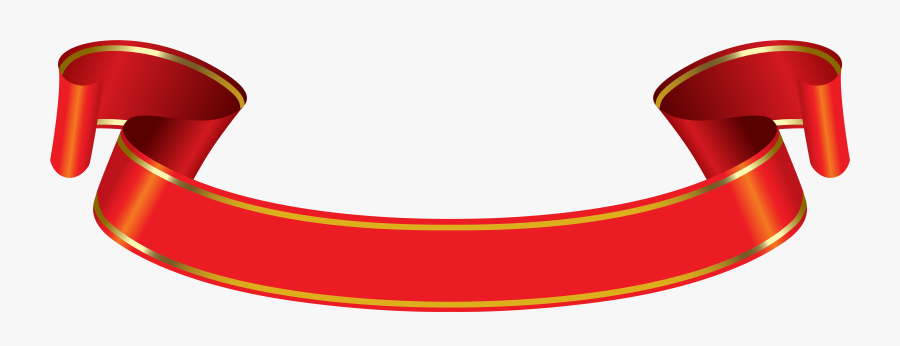 Png Red And Gold Banner - Red And Gold Banner, Transparent Clipart