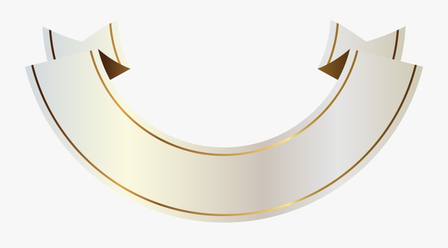 Gold Banner, Ribbon Banner, High Quality Images, Banners, - White And Gold Banner Png, Transparent Clipart