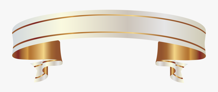 White And Gold Banner Png Clipart Picture - White And Gold Banner Png, Transparent Clipart