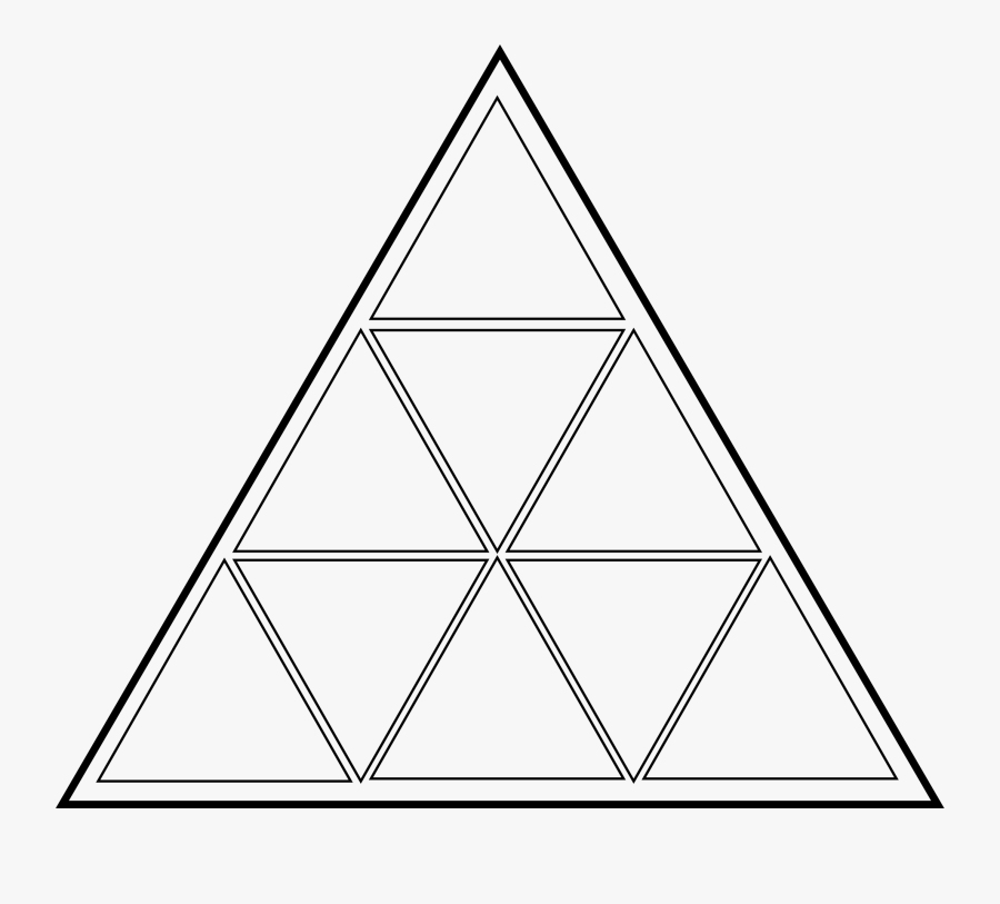 Triangular Clipart Thin - Triangle With 8 Triangles, Transparent Clipart
