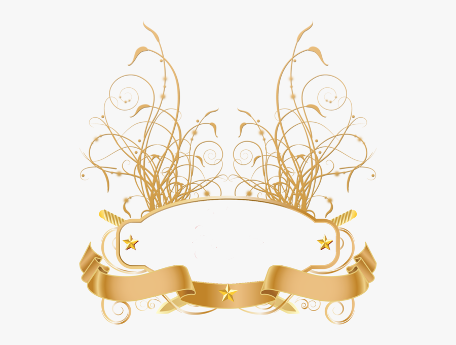 Transparent Gold Ribbon Png - Transparent Gold Banner Png, Transparent Clipart