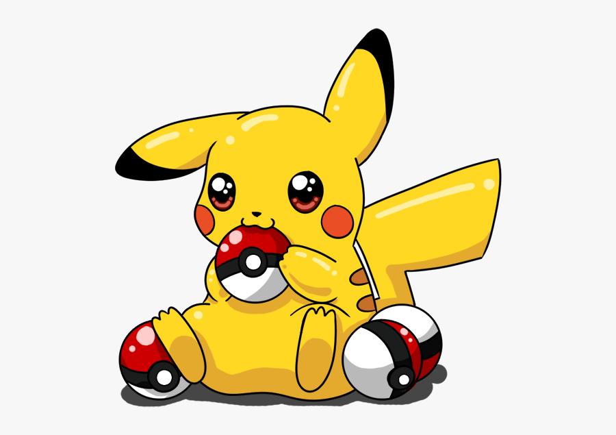 Drawn Pikachu Pikachu Pokeball - Cute Pikachu Drawing, Transparent Clipart