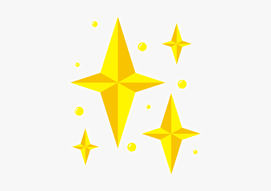 Golden Stars Star Falling Stars Fireworks - Triangle, Transparent Clipart