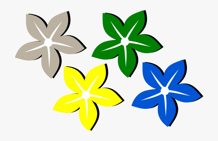 Flower Design Color Drawing, Transparent Clipart