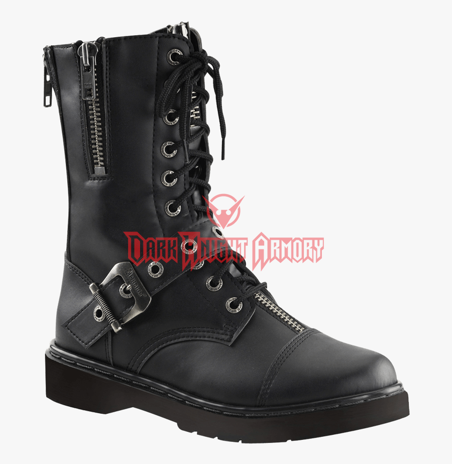 Mens Zipped And Buckled Fw From Dark - Punk Mens Boots, Transparent Clipart