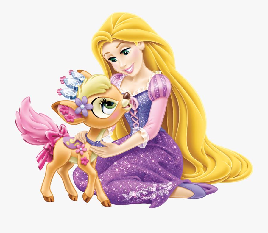 Disney Princess Rapunzel With Little Deer Transparent - Disney Princess Images Rapunzel, Transparent Clipart