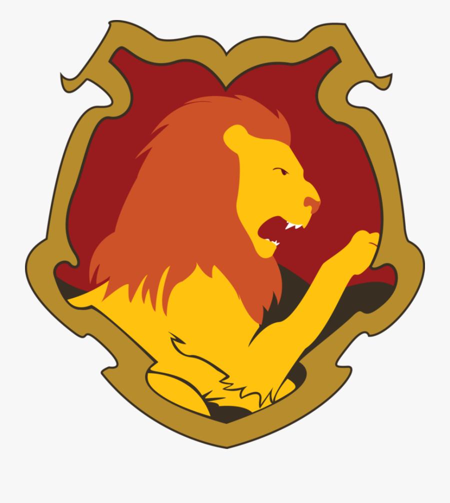Gryffindor Harry Potter Lion Hogwarts Bag - Lion Harry Potter, Transparent Clipart