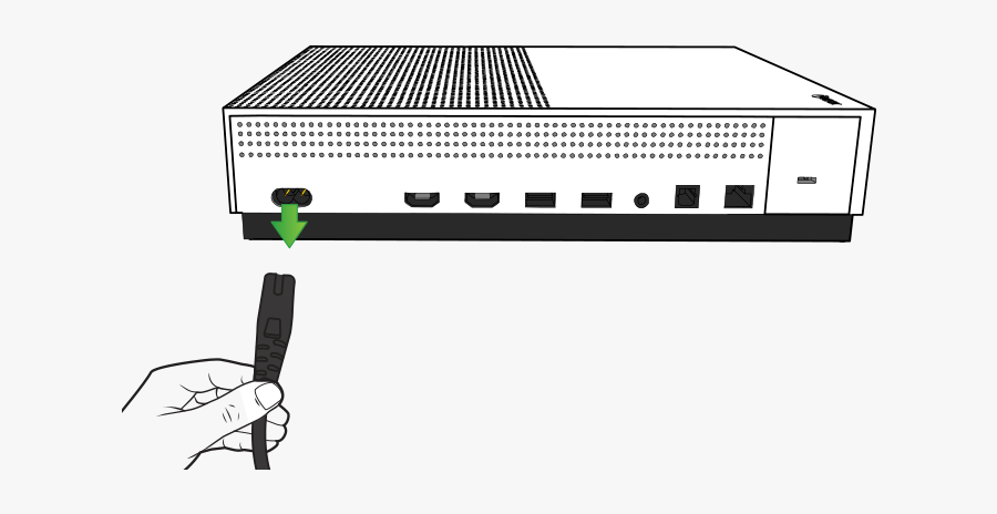 Xbox One S Power Cord, Transparent Clipart