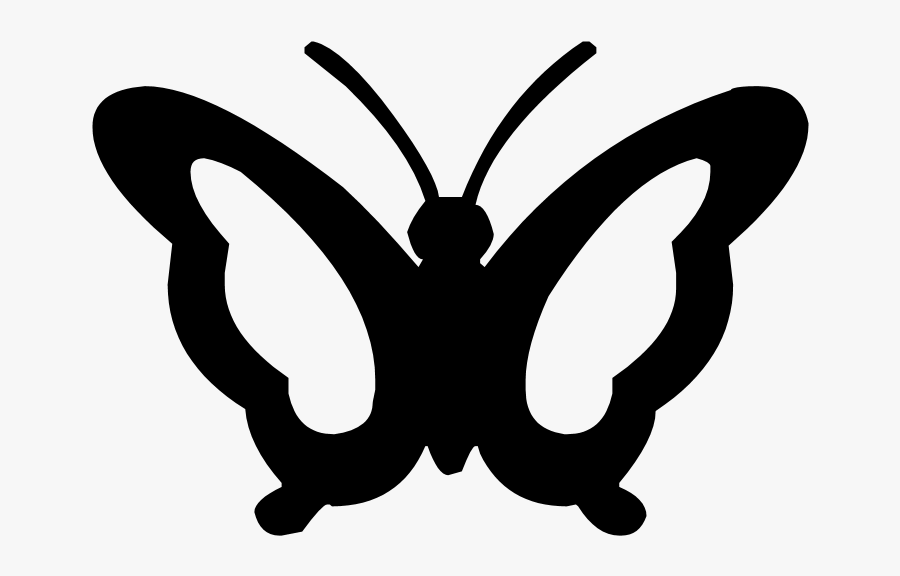 Silhouette Butterfly 008 By Jassy2012 On Clipart Library - Butterfly Clipart Insect Silhouette, Transparent Clipart