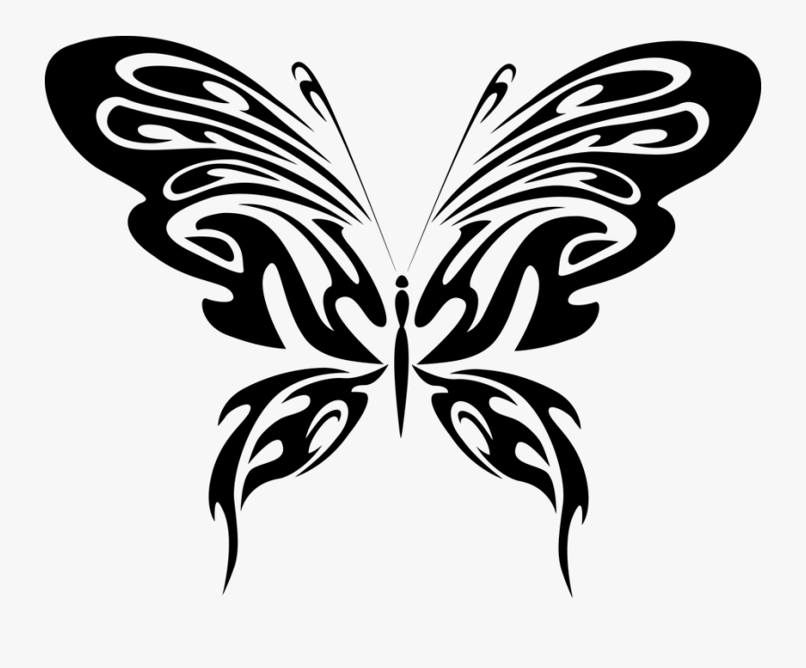 Abstract, Animal, Black, Butterfly, Fly, Insect - Abstract Drawing Of Butterfly, Transparent Clipart