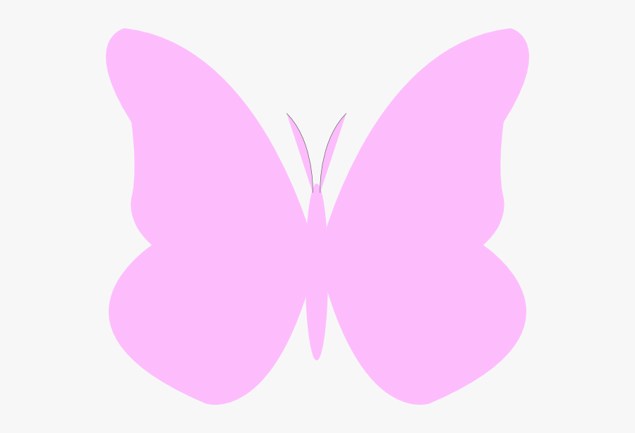 Simple Butterfly Clip Art - Light Pink Butterfly Clipart, Transparent Clipart