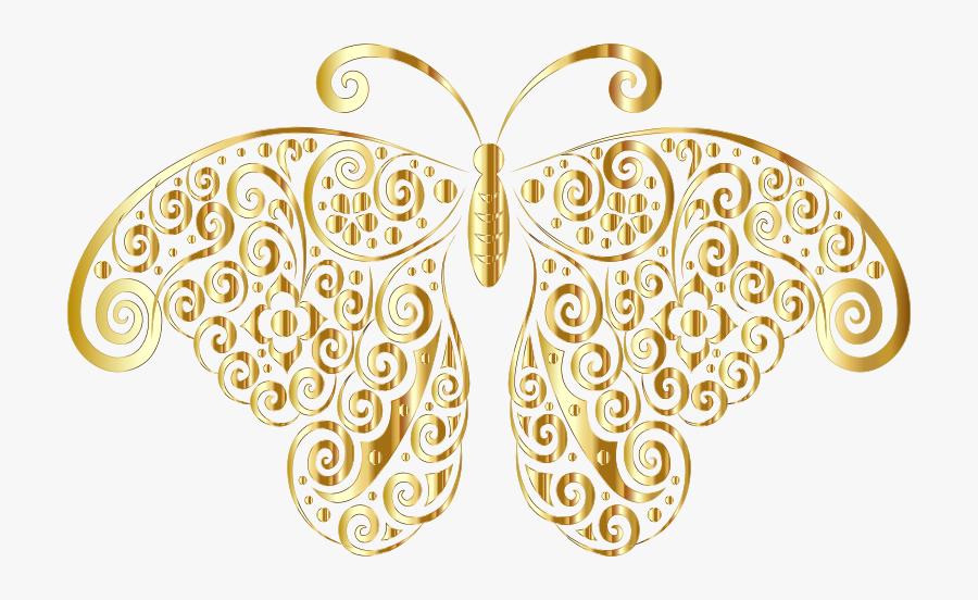Gold Floral Design Png, Transparent Clipart