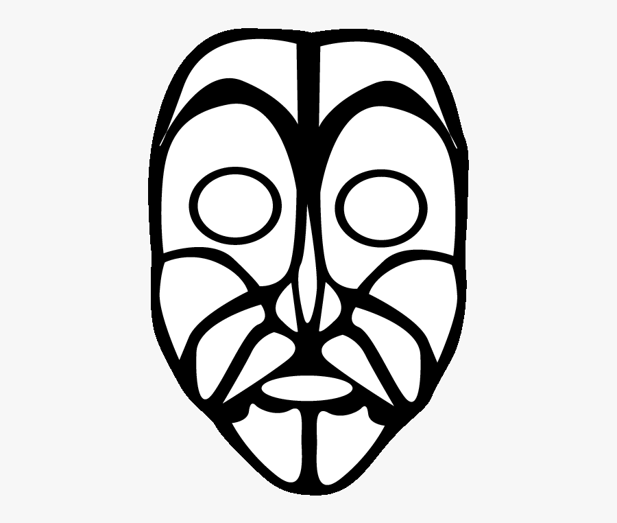 Eps 2 Mask Printable Coloring In Pages For Kids - African Mask Coloring Pages, Transparent Clipart