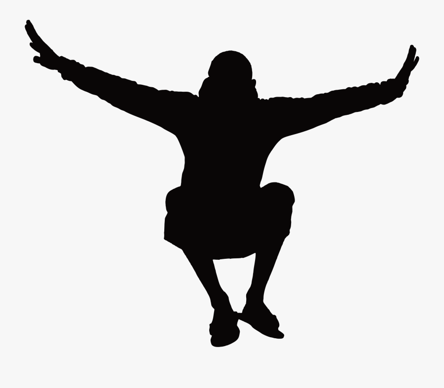 Man Jumping Silhouette Icons Png - Man Jumping Silhouette Png, Transparent Clipart