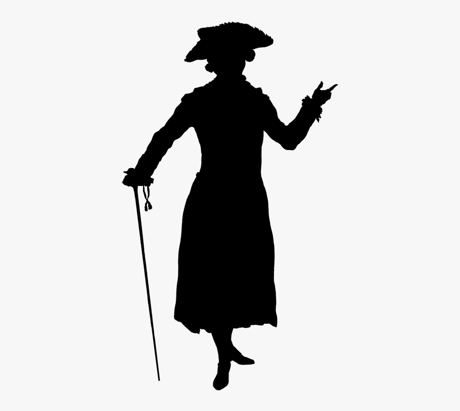 Victorian Man Shadow Theatre, Fashion Silhouette, 18th - 18th Century Man Png, Transparent Clipart
