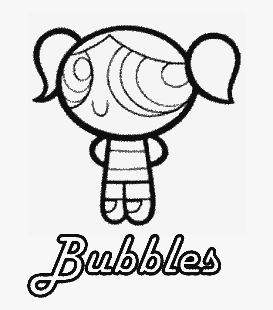 Powerpuffgirls Coloring Pages - Powerpuff Girls Bubbles Coloring Pages, Transparent Clipart