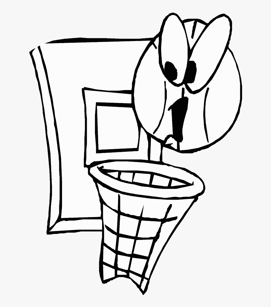 Basketball 4 Sports Coloring Pages - History Of Basketball, Transparent Clipart