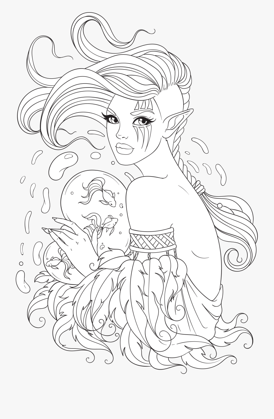 Free Adult Coloring Page - Line Artsy Coloring Pages, Transparent Clipart