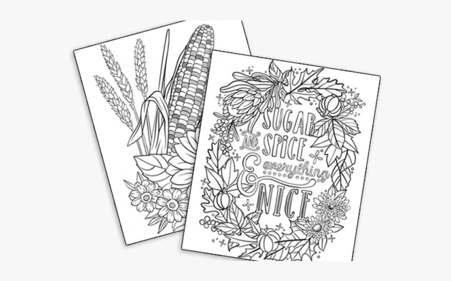 Middle School Autumn Coloring Pages, Transparent Clipart