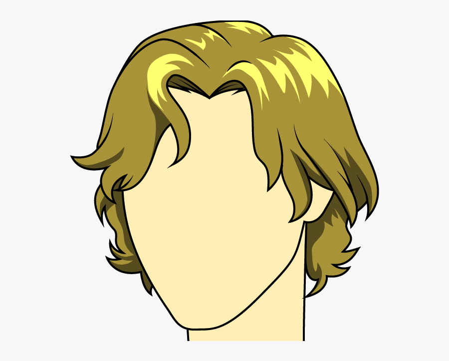 How To Draw Male - Cartoon Boy Long Hair, Transparent Clipart