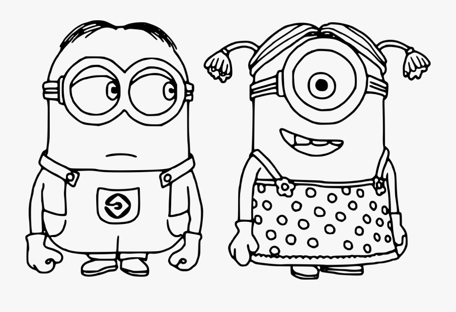 - Transparent Girl Minion Png - Minions Coloring Pages Printable Free Pdf ,  Free Transparent Clipart - ClipartKey